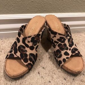 Cheetah Cork Wedges